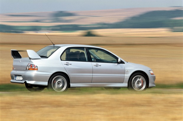 The Mitsubishi Evo VIII is more than fast enough to get you into trouble..jpg