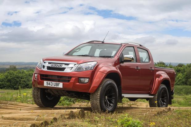 The Isuzu D-Max has been modified by Arctic Trucks to cope with extreme off road situations