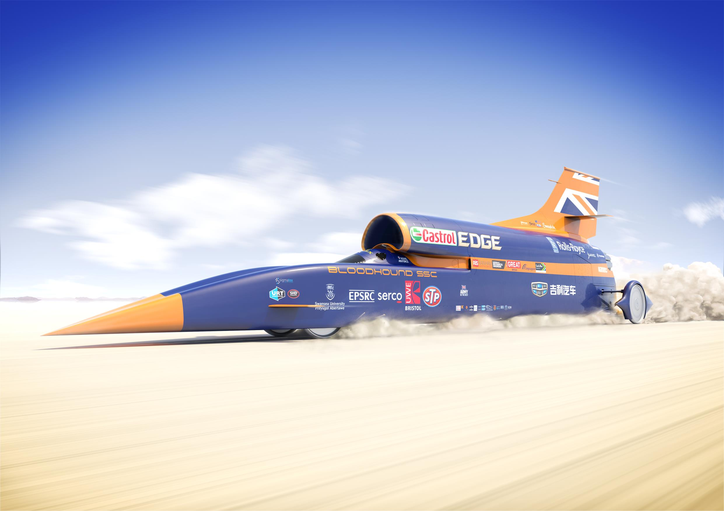 Bloodhound SSC is aiming to break the world land speed record