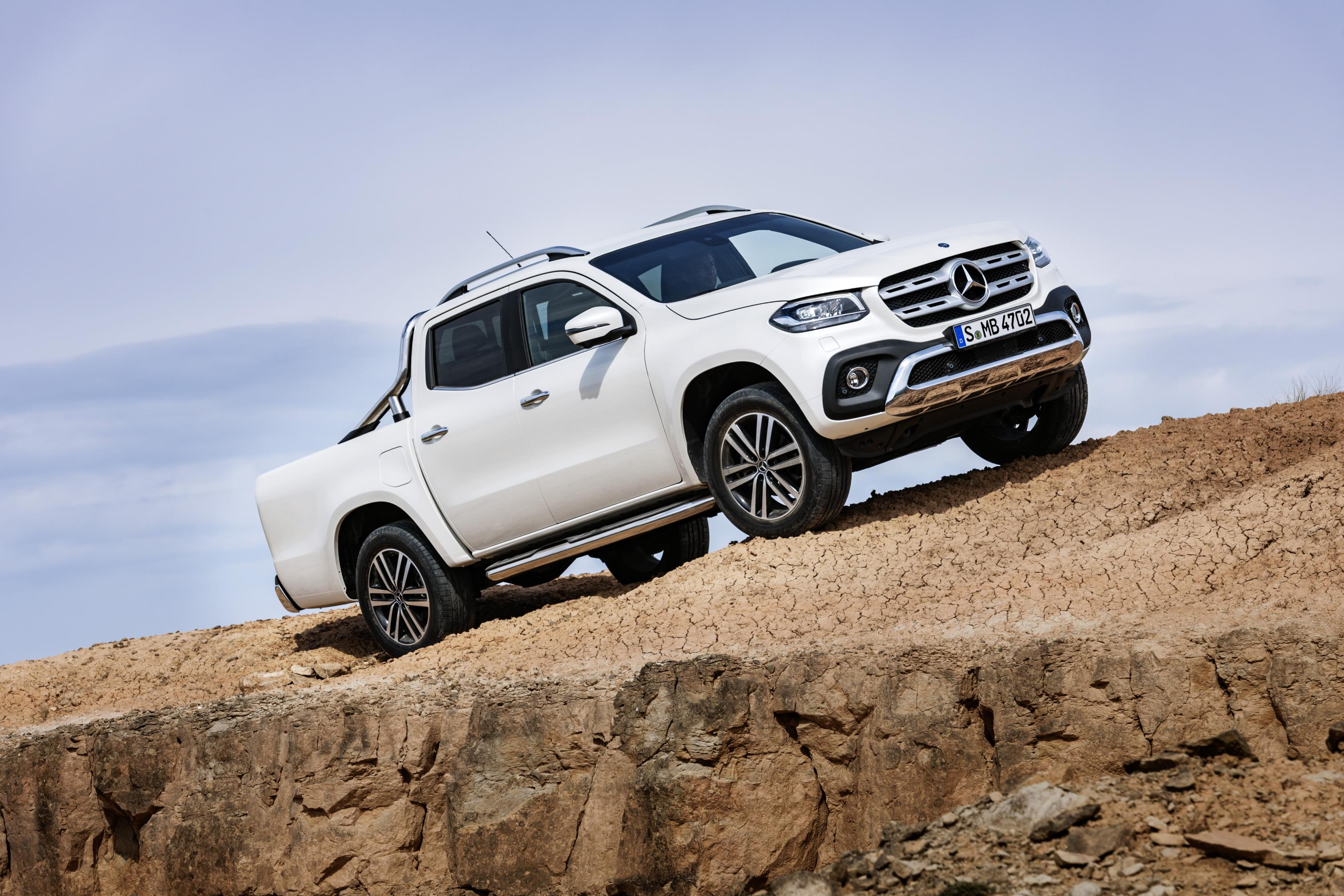 The new Mercedes X-Class could be the wheels of choice for the next Open