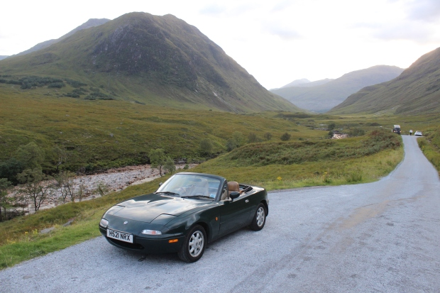 David was able to enjoy Scotland safely in his Mazda MX-5