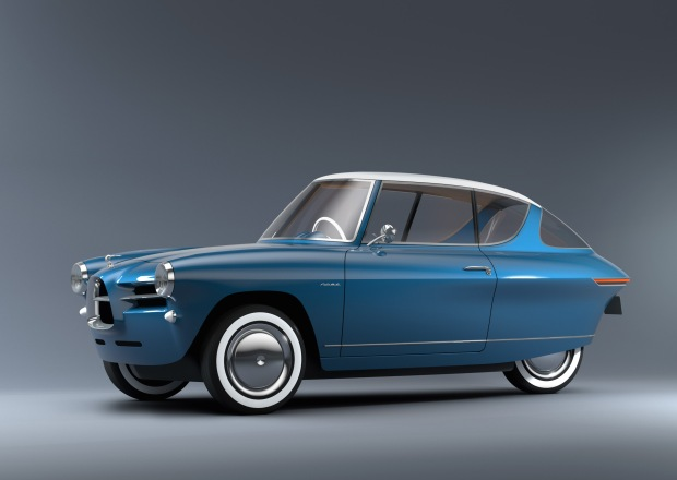 The Nobe 100 is an eco-friendly electric car inspired by small 1960s cars(1)